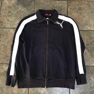 Men's VTG Puma Full Zip Sweatshirt Size Medium